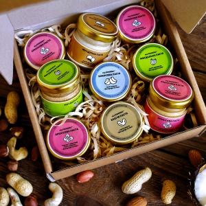 Набір горіхових паст «Натуральний», 9 штук