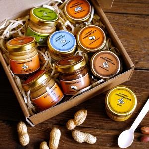 Набір горіхових паст «Солоденький», 9 штук